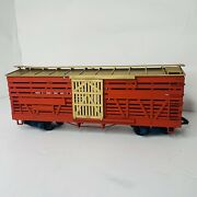 Lgb Train By Lehmann - Model Train Red And Gold - Large Train Box Car Only