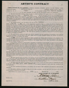 His Supreme Moment / Kathleen Myers 1925 Signed Contract Leading Role Sara
