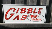 16x30 Ssp 1966 Vintage Gibble Gas Power Porcelain Signs Gas And Oil Company