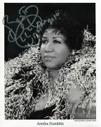 Aretha Franklin Singer-songwriter Autograph, Signed Photo