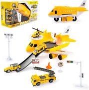 Tuko Transport Cargo Airplane Car Toy Play Set For 3+ Years Old Boys And Girlsy