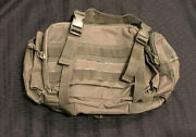 Tactical Carrier Waist Bag/buttpack Green W/ Clips And Loop Fastener