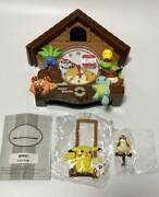 Rare Pokemon Wall Clock Lovely Cabin 1999 Eevee Squirtle Pikachu