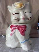 Shawnee Patented Puss N Boots Ceramic Cat Cookie Jar - Vintage Pottery