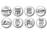 Set Of 8 Vintage Coin Laundry Room Laundromat Cabinet Drawer Knobs Pulls