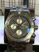 Auth Breitling Watch Avenger Ii Tang Stingray Arabia Automatic Ss F/s