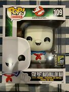 Funko Pop Ghostbusters Stay Puft Marshmallow Man Sdcc 2014 Exclusive 109