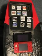 Nintendo 3ds Handheld System - Flame Red - With Games