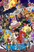 One Piece Strong World Anime Silk Painting Wall Art Home Decor - Poster 24x36