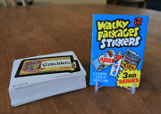 Complete 1980 Topps Wacky Packages Series 3 Set 66 Sticker Cards Nm+ And Wrapper