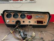 1966 Gto Lemans Tempest Dash Bezel Cluster W/ Heater Control And Wire Harness 921