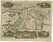 Antique Map Of The Region Around Canaan And Paradise By Berchem 1669