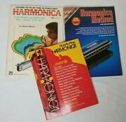 How To Play Harmonica Music Books Lot Of 3 Adult Beginner Learn Method Songbooks