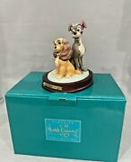 Wdcc Lady And The Tramp Opposites Attract 50th Anniversary L.ed. Figurine
