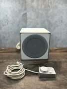 Logitech Z4i Replacement Powered Subwoofer White Speaker Untested