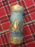 Vintage Christmas Pillar Candle Wise Men Nativity Carved