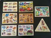Preowned Wooden Toys Puzzle Lot Melissa And Doug Preschool Time Educational