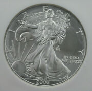 2003 Silver American Eagle Ngc Ms 70