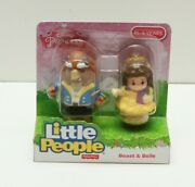 Fisher-price Little People Disney Princess Beast And Belle-2 Figure Set New 2015