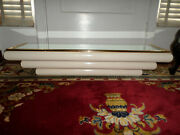 Spectacular 1970's Karl Springer Style Ivory Wall Mounted Console Table / Shelf