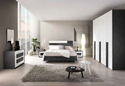 Esf Panarea King Bedroom Set Made In Italy By Mcs Italy For A Total Of 6 Pieces