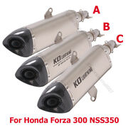 Motorcycle Exhaust System 51mm Muffler End Can For Honda Forza 300 Nss350 2020