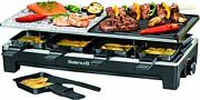 Homewell Raclette Tabletop Grill For Indoor Bbq / Outdoor Grilling Portable E...