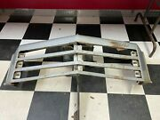 1976 1977 Chevy Monte Carlo Center Header Panel Grille W/ Hood Catch And Emblem