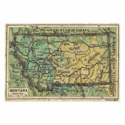 Montana 1906 Map Wall Art Poster Print Vintage Style Unframed Home Decor And Gift