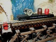 N Scale 1 Of A Kind C And O Car With Diecast Civil War Cannon Andballs +  File 9819