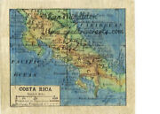 Costa Rica 1906 Map Print Poster Artwork Vintage Style Unframed Wall Home Decor
