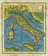 Italy 1906 Map Print Poster Wall Painting Art Poster-unframed Hanging Gift