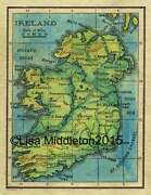 Ireland 1906 Historic Map Art Print Poster Wall Hanging Home Decor Cool Gift
