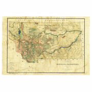 Texas 1906 Map Art Print Poster Vintage Canvas Great Wall Home Decor Best Gift