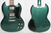 Grass Roots By Esp G-sg-55 Metallic Green 2014 From Japan Used Good Guitar Only