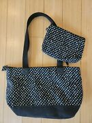 Thirty One Demi Day Bag - Lil Scribble Purse With Matching Mini Zipper Pouch