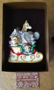 Jay Strongwater Babyand039s 1st Christmas Noahs Ark Jungle Zoo Holiday Jewel Ornament
