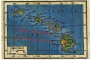 Hawaii 1906 Map Vintage Unframed Wall Art Print Poster Great Home Decor And Gift