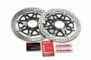 2x Brembo T-drive 320mm Front Brake Discs For Kawasaki Zx-10r 2004-15 208a98522