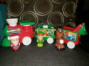 Fisher Price Little People Musical Christmas Train Santa Reindeer Sounds Elf Toy