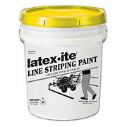 Latex-iteand174 5040 5 Gal. Line Striping Paint, Lead-free, Fast Dry, Yellow, 1