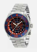 New Spiderman 44mm Men's Watch Marvel Silver 29683 Limited Edition