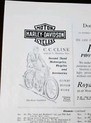 1912 Harley Davidson Motor Cycles Ad High School Yearbook Excelsior Auto Cycles
