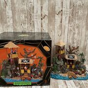 Lemax Halloween Spooky Town Pirates Hideout 84764 Lights And Sound - Works Great