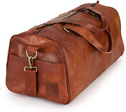 Berliner Bags Vintage Leather Duffle Bag Oslo For Travel Or The Gym, Overnight