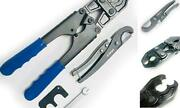 Pex Pipe 1/2inch And 3/4inch Combo Crimping Tool For Copper Ring With Go-no