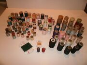 Lot Of 86 Vintage Thread Spools Sewing Quilting Embroidery Estate J And P Coats