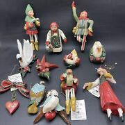 Complete Set House Of Hatten Denise Calla 12 Days Of Christmas Ornaments 1989