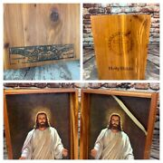 Vintage Holy Bible Union Made Wooden Wood Box Brotherhood Of Carpenters