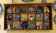 Beautiful Vintage Wooden Tea Cup And Saucer Curio Knick Knack Display Shelves